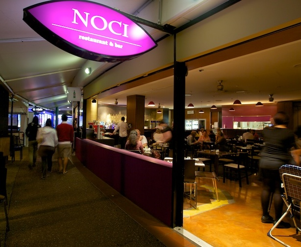 Noci Restaurant & Bar outside looking in